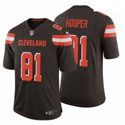 Men Cleveland Browns 81 Austin Hooper NFL Stitched Vapor Untouchable Limited Brown Nike Jersey