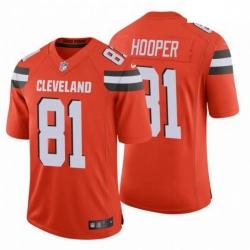 Men Cleveland Browns 81 Austin Hooper NFL Stitched Vapor Untouchable Limited Orange Nike Jersey