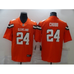 Nike Cleveland Browns 24 Nick Chubb Orange Vapor Untouchable Limited Jersey