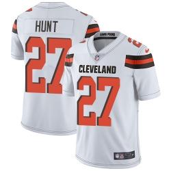 Nike Cleveland Browns 27 Kareem Hunt White Men Stitched NFL Vapor Untouchable Limited Jersey