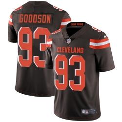 Nike Cleveland Browns 93 B J  Goodson Brown Team Color Men Stitched NFL Vapor Untouchable Limited Jersey