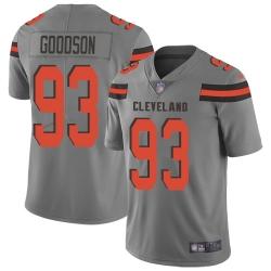 Nike Cleveland Browns 93 B J  Goodson Gray Men Stitched NFL Limited Inverted Legend Jersey
