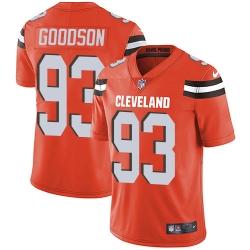 Nike Cleveland Browns 93 B J  Goodson Orange Alternate Men Stitched NFL Vapor Untouchable Limited Jersey