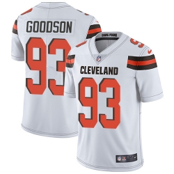Nike Cleveland Browns 93 B J  Goodson White Men Stitched NFL Vapor Untouchable Limited Jersey