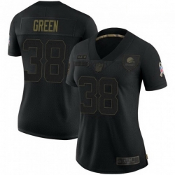 Women Cleveland Browns 38 A.J. Green 2020 Salute To Service Limited Jersey