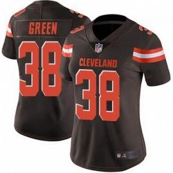 Women Cleveland Browns 38 A.J. Green Brown Vapor Limited Limited Jersey