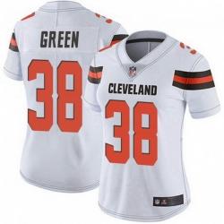 Women Cleveland Browns 38 A.J. Green White Vapor Limited Jersey