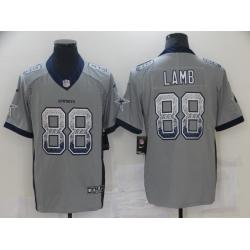 Men Dallas Cowboys CeeDee Lamb Gray Limited Jersey