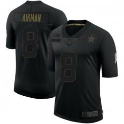 Men Dallas Cowboys Troy Aikman Black Limited 2020 Salute To Service Jersey