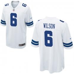 Men Nike Dallas Cowboys Wilson 6 White Thanksgivens Vapor Limited NFL Jersey