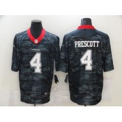 Nike Dallas Cowboys 4 Dak Prescott Black Camo Limited Jersey