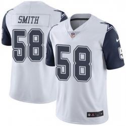 Nike Dallas Cowboys 58 Aldon Smith White Men Stitched NFL Limited Rush Jersey