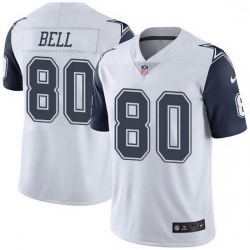 Nike Dallas Cowboys 80 Blake Bell White Men Stitched NFL Limited Rush Jersey