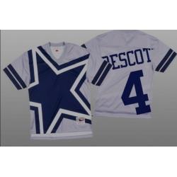 Women Dallas Cowboys Dak Prescott White Big Face Fashion Limited Jersey