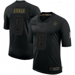 Youth Dallas Cowboys Troy Aikman Black Limited 2020 Salute To Service Jersey