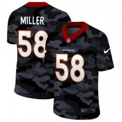 Denver Broncos 58 Von Miller Men Nike 2020 Black CAMO Vapor Untouchable Limited Stitched NFL Jersey