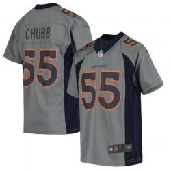 Men Denver Broncos Bradley Chubb 55 Gray jersey