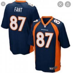 Men Denver Broncos Noah Fant Navy Blue Vapor Limited Jersey