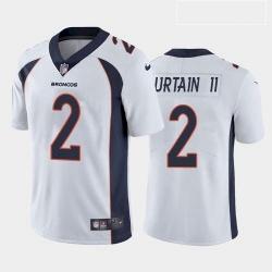 Men Denver Broncos Patrick Surtain II Navy White Orange 2021 Draft Jersey