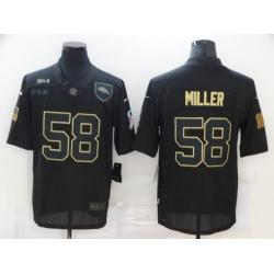 Nike Denver Broncos 58 Von Miller Black 2020 Salute To Service Limited Jersey