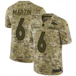 Nike Denver Broncos 6 Sam Martin Camo Men Stitched NFL Limited 2018 Salute To Service Jersey