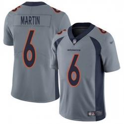 Nike Denver Broncos 6 Sam Martin Gray Men Stitched NFL Limited Inverted Legend Jersey