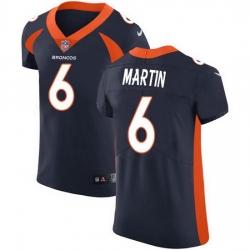 Nike Denver Broncos 6 Sam Martin Navy Blue Alternate Men Stitched NFL New Elite Jersey