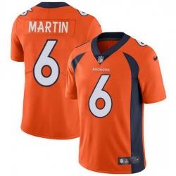 Nike Denver Broncos 6 Sam Martin Orange Team Color Men Stitched NFL Vapor Untouchable Limited Jersey