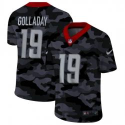 Detroit Lions 19 Kenny Golladay Men Nike 2020 Black CAMO Vapor Untouchable Limited Stitched NFL Jersey