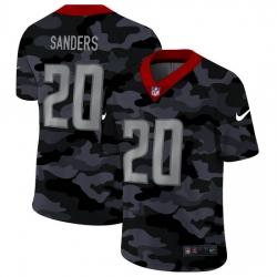 Detroit Lions 20 Barry Sanders Men Nike 2020 Black CAMO Vapor Untouchable Limited Stitched NFL Jersey