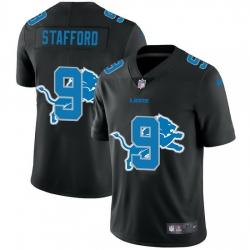 Detroit Lions 9 Matthew Stafford Men Nike Team Logo Dual Overlap Limited NFL Jersey Black