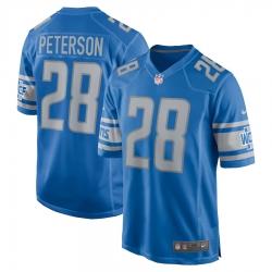 Men Detroit Lions 28 Adrian Peterson Jersey Blue Vapor Limited Jersey