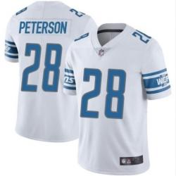 Men Detroit Lions 28 Adrian Peterson jersey white Vapor Limited Jersey