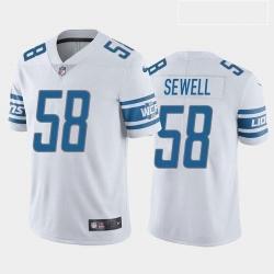 Men Detroit Lions Penei Sewell Blue White 2021 Draft Jersey