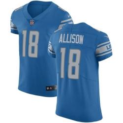 Nike Detroit Lions 18 Geronimo Allison Blue Team Color Men Stitched NFL Vapor Untouchable Elite Jersey