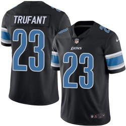 Nike Detroit Lions 23 Desmond Trufant Black Men Stitched NFL Limited Rush Jersey
