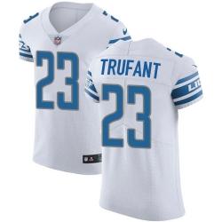 Nike Detroit Lions 23 Desmond Trufant White Men Stitched NFL New Elite Jersey
