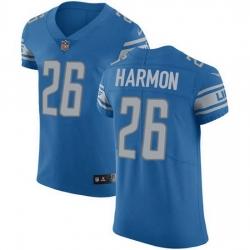 Nike Detroit Lions 26 Duron Harmon Blue Team Color Men Stitched NFL Vapor Untouchable Elite Jersey