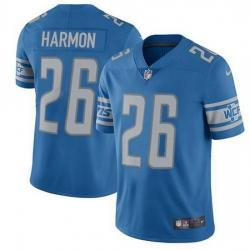 Nike Detroit Lions 26 Duron Harmon Blue Team Color Men Stitched NFL Vapor Untouchable Limited Jersey