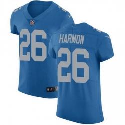 Nike Detroit Lions 26 Duron Harmon Blue Throwback Men Stitched NFL Vapor Untouchable Elite Jersey