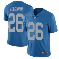 Nike Detroit Lions 26 Duron Harmon Blue Throwback Men Stitched NFL Vapor Untouchable Limited Jersey