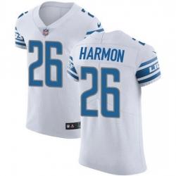 Nike Detroit Lions 26 Duron Harmon White Men Stitched NFL New Elite Jersey