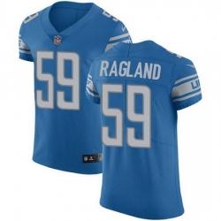 Nike Detroit Lions 59 Reggie Ragland Blue Team Color Men Stitched NFL Vapor Untouchable Elite Jersey