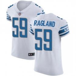 Nike Detroit Lions 59 Reggie Ragland White Men Stitched NFL New Elite Jersey