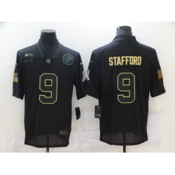 Nike Detroit Lions 9 Matthew Stafford Black 2020 Salute To Service Limited Jersey