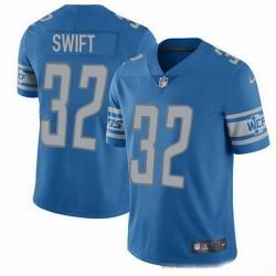 Nike Lions 32 D 27Andre Swift Blue Team Color Men Stitched NFL Vapor Untouchable Limited Jersey