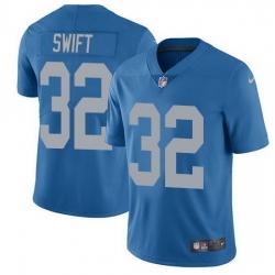 Nike Lions 32 D 27Andre Swift Blue Throwback Men Stitched NFL Vapor Untouchable Limited Jersey