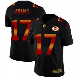 Green Bay Green Bay Green Bay Green Bay Packers 17 Davante Adams Men Black Nike Red Orange Stripe Vapor Limited NFL Jersey