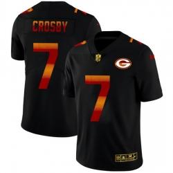 Green Bay Green Bay Green Bay Green Bay Packers 7 Mason Crosby Men Black Nike Red Orange Stripe Vapor Limited NFL Jersey