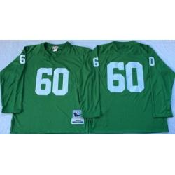 Men Green Bay Green Bay Packers 60 Rob Davis Green M&N Throwback Jersey